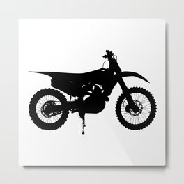 Dirt Bike Greyscale 609 Watercolor Map Yoga Quote Metal Print