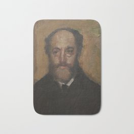 Portrait of the Art Critic Durand-Gréville Bath Mat