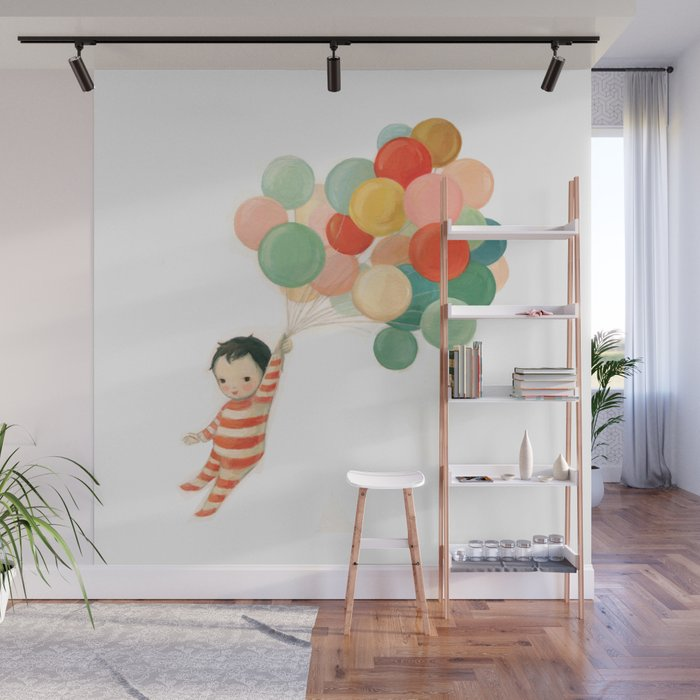 Wonderful Things Balloon Baby by Emily Winfield Martin Wall Mural by