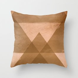 Distressed Triangles Throw Pillow