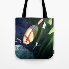 """Waiting For Spring"" - Tulip Painting Tote Bag"