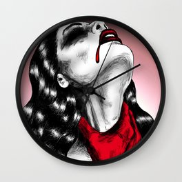 Crime Of Passion Wall Clock