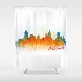Atlanta City Skyline Hq v3 Shower Curtain