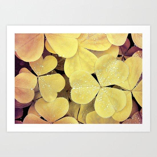 floral leaves Art Print