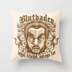Blutbaden Sepia Throw Pillow