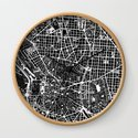 Madrid city map black&white by planosurbanos