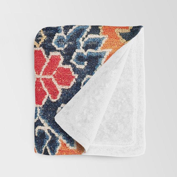Shigatse South Tibetan Jabuye Rug Print Throw Blanket