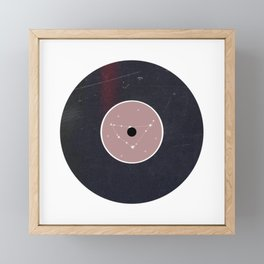 Vinyl Record Zodiac Sign Capricorn Framed Mini Art Print