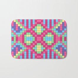 Checkerboard Squares Abstract Bath Mat