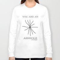 kurt vonnegut Long Sleeve T-shirts featuring Kurt Vonnegut Asshole Asterisk Art by FountainheadLtd