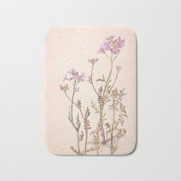 Pink floral design Bath Mat