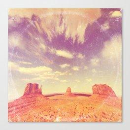 Navajo Country - America As Vintage Album Art Canvas Print