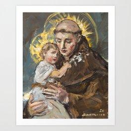 St. Anthony of Padua Art Print