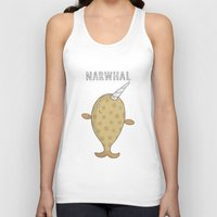 narwhal Tank Tops featuring Narwhal by Carl Batterbee Illustration