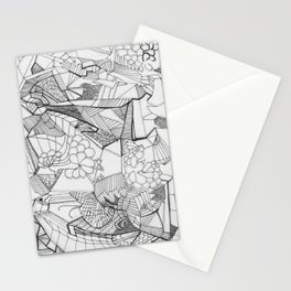 Adult Coloringbook Template Random 2 Stationery Cards