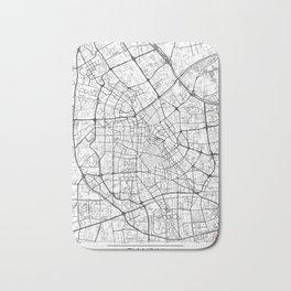Tianjin Map White Bath Mat
