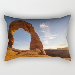 Sunset at Delicate Arch Rectangular Pillow
