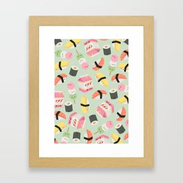 kawaii food party Framed Art Print