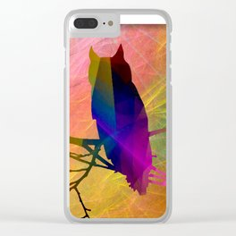 ap071 Bird on branch Clear iPhone Case