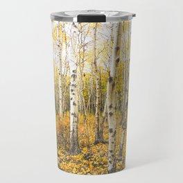 Autumn Birch Forest Travel Mug