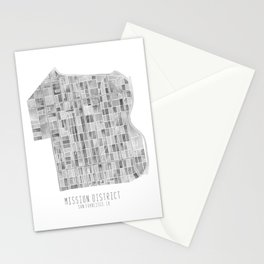 Mission District Watercolor Stationery Cards