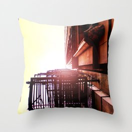 Light Above Dearborn Throw Pillow