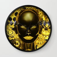 android Wall Clocks featuring Android Clockwork by Magmata