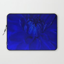 Royal Blue Fractal dahlia Laptop Sleeve