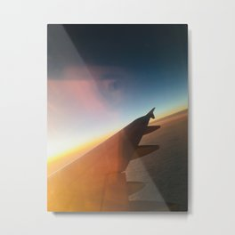Airplane Window Metal Print