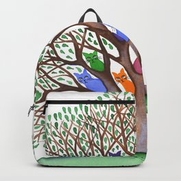 Topeka Whimsical Cats in Tree Backpack