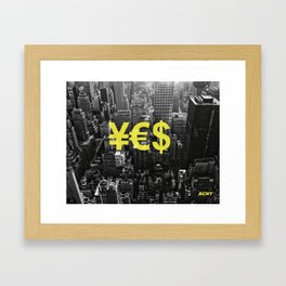 YES NYC Framed Art Print