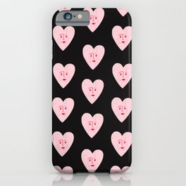 Pink Happy Heart iPhone Case