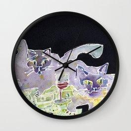 Fat Cats Wall Clock