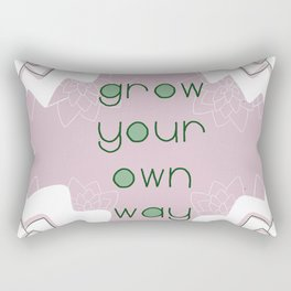 Grow Your Own Way Rectangular Pillow