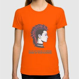 Mohawk punk guy T-shirt