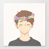 danisnotonfire Canvas Prints featuring Flower Crown  by draws but not really