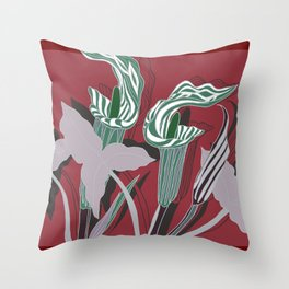Arum Lilies IV. Throw Pillow