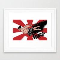 honda Framed Art Prints featuring E. Honda by GeorgeJurard
