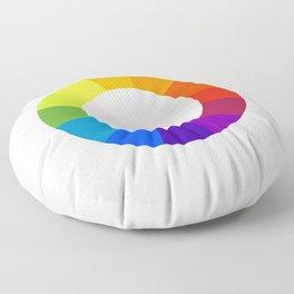 Pantone color wheel Floor Pillow