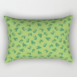 Arcade in Light Green Rectangular Pillow