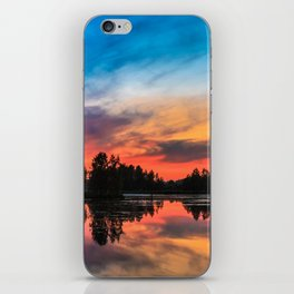 Summer Sunset over Lake iPhone Skin