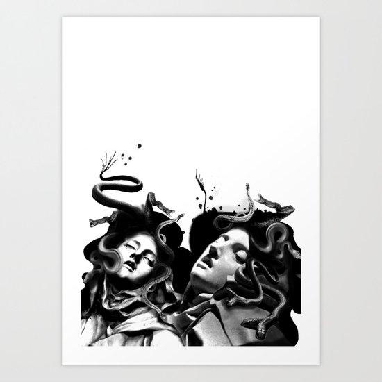 Beating Medusa Art Print