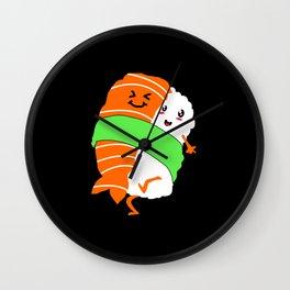 Sushi Kawaii Couple Maki Nigiri Rice Japanese Food Wall Clock