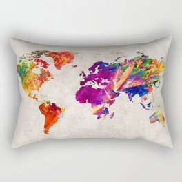 World Map 50 Rectangular Pillow