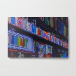Tokyo night: Colorful Kanji signs in a cyberpunk vibe Metal Print