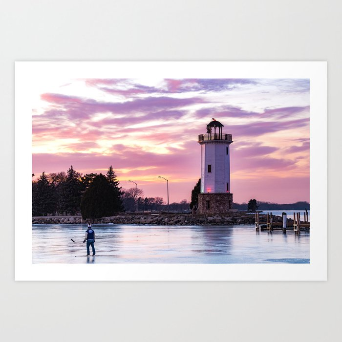 Lakeside Park Art Print