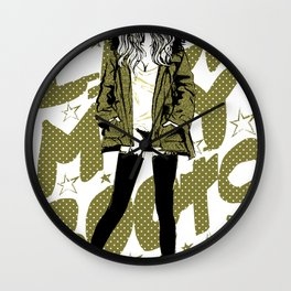 PARKA GIRL Wall Clock