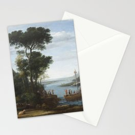Claude Lorrain - The Arrival of Aeneas at Pallanteum Stationery Cards