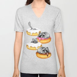 Food Fantasy of a Trash Panda Unisex V-Neck