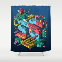 font Shower Curtains featuring Font of all Known Ledges by Mister Phil